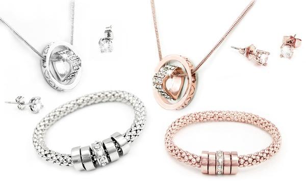 Parure de 3 bijoux avec cristaux Swarovski®