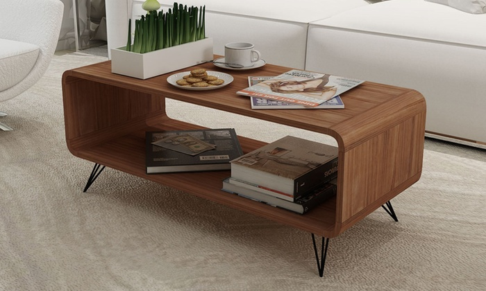 meuble tv table basse avec espace de rangement groupon shopping. Black Bedroom Furniture Sets. Home Design Ideas