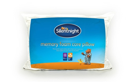 One or Two Silentnight Memory Foam Core Pillows