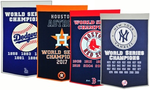 "Winning Streak MLB 36"" x 24"" World Series Championships Dynasty Banner"