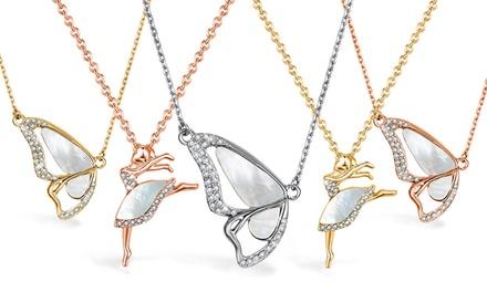 Mestigé kettingen met vlinder, ballerina of hart met Swarovskikristallen, incl. verzending