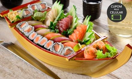 Sequência livre de sushi no Porto Sushi Lounge e Delivery – Menino Deus
