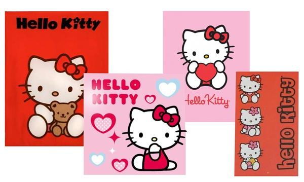 Plaid con Hello Kitty da 10,99 € (fino a 63% di sconto)