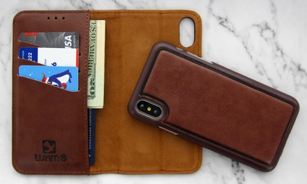 huge discount 6ef4f a42f3 WalvoDesign Business Casual Leather Card Folio Wallet Pouch with iPhone 7,  8, 7/8 Plus, X /XS, XR, XS Max Phone Case