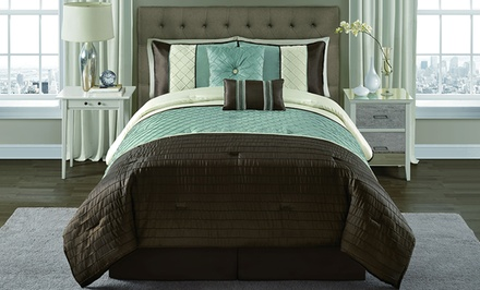 Vaughn 6-Piece Pintucked Comforter Sets