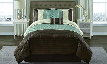 Vaughn 6-Piece Pintucked Comforter Sets