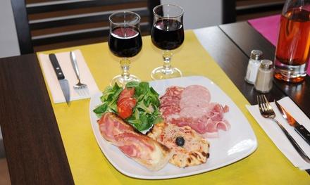 1 assiette de charcuterie à partager avec verres de vins pour 2, 4 ou 6 personnes dès 12,90 € à La Pizzeria de lErdre