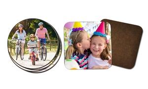 PhotoBook Shop: 4 sottobicchieri personalizzabili quadrati o rotondi offerto da PhotoBook Shop (sconto 86%)