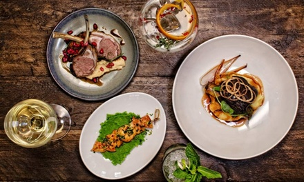 TwoCourse Evening Meal with Glass of Wine for Two or Four at The Clarence Social