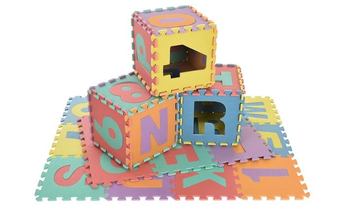 Tapis Puzzle G Ant Chiffres Et Lettres Groupon Shopping