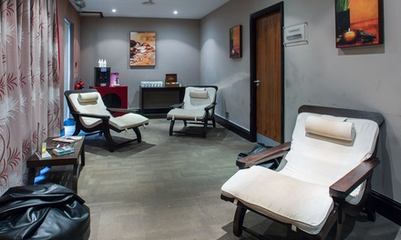 Spa Access with Two Treatments, Drink and Pastry for One or Two at Cambridge Belfry DoubleTree by Hilton