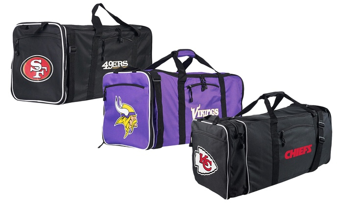 Officially Licensed NFL Steal Duffel Bag Multi Color 28 x 11 x 12