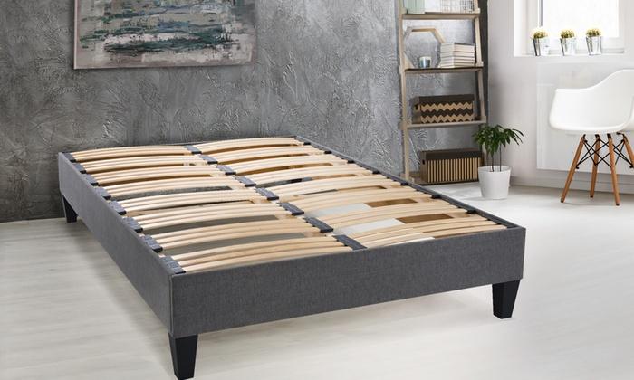 sommier 20 cm avec pieds inclus groupon shopping. Black Bedroom Furniture Sets. Home Design Ideas