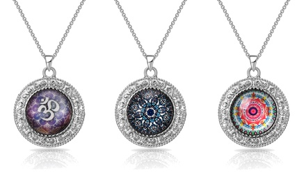 One, Two or Three Philip Jones Mandala Necklaces in Choice of Design
