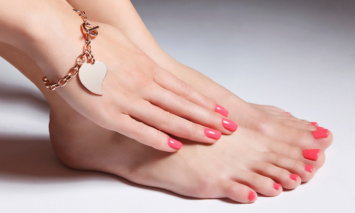 Brook and Hearth Salon - Brook and Hearth Salon: Gel Pedicure or Gel Overlay Manicure at Brook and Hearth Salon (46% Off)