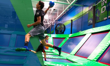 One 60- or 90-Minute Pass for One or Two at Rebounderz (Up to 37% Off)