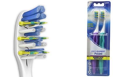 4x, 6x oder 8x Oral B Pulsar Medium batteriebetriebene Zahnbürste