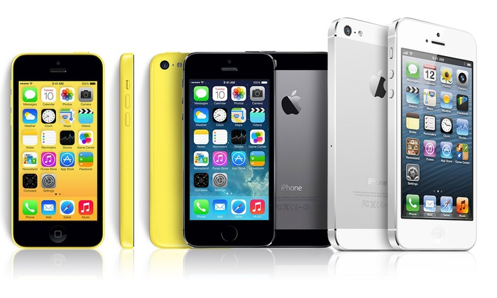 refurbished iphone 5 apple iphone 5 5c or 5s gsm unlocked refurb groupon 12850