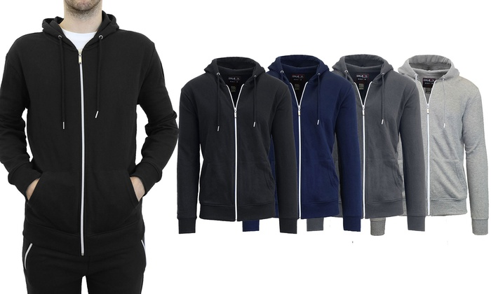Men's French Terry Zip-Up Hoodie