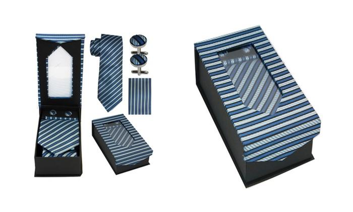 ... Hanky and Cufflink Gift Box Menu0027s Tie Hanky and  sc 1 st  Groupon & Menu0027s Tie Gift Box | Groupon Goods Aboutintivar.Com