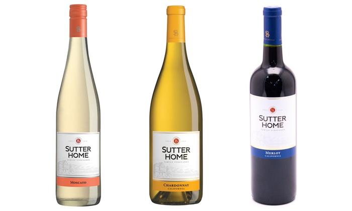 Sutter Home Merlot, Chardonnay, ...