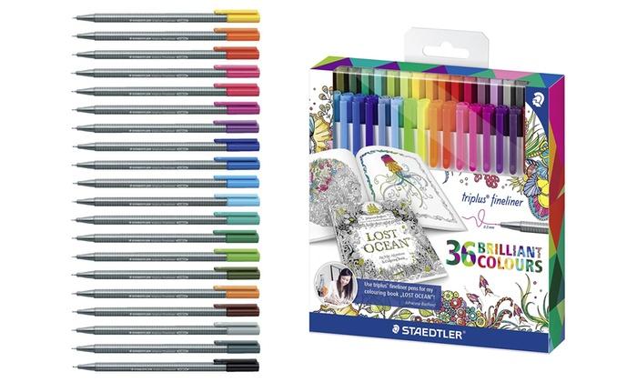 Staedtler Johanna Basford Triplus Fineliner Coloring Pens 36 Pack