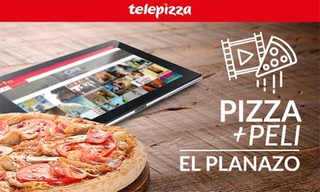 1 o 2 pizzas medianas o familiares con 1 o 2 películas conTelepizza (hasta 62% de descuento)