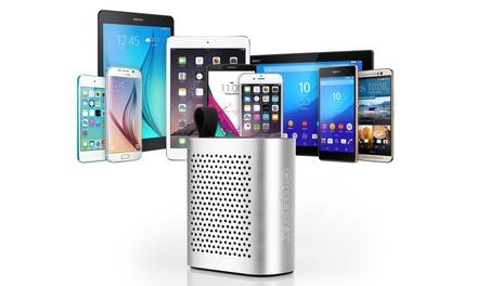 Mini enceinte portable Bluetooth Caseflex, puissance 2 Watts et autonomie de 6h, coloris au choix