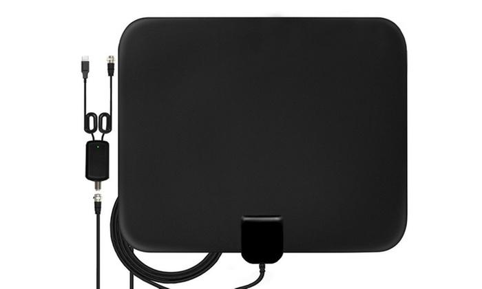 Indoor Amplified TV Antenna ViewTV 50 Miles Range Flat HD Digital with Amplifier