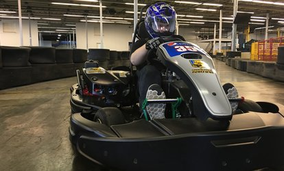 image for  Indoor Karting, Laser Tag and Escape Rooms at Grand Prix Karting (Up to 46% Off)