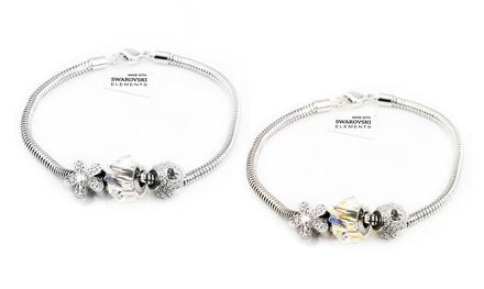 Hasta 4 pulseras con adornos y cristales de Swarovski