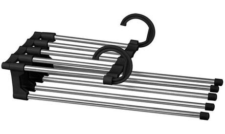 1, 2 o 4 percheros retractiles de acero inoxidable de diseño 5 en 1