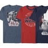 Licensed Star Wars Men's Americana Tee. Extended Sizes Available.