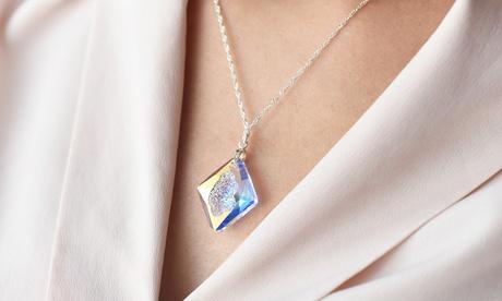 Sparangebote: Ah! Jewellery Sterlingsilber-Halskette veredelt mit Rhombus-Kristall vonSwarovski®