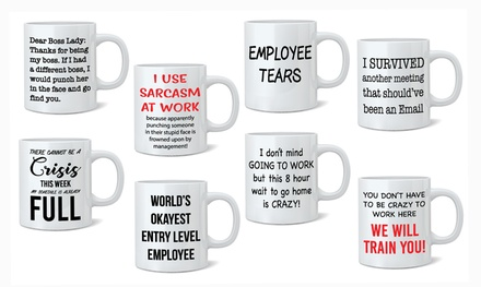 One or Two Employee Novelty Mugs