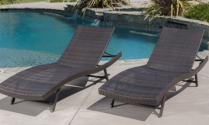 up to 44 off on outdoor lounge chair set 2 pc groupon goods