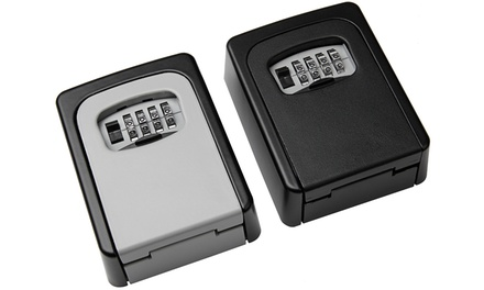 Key Safe Lock Boxes with Combination in Black or Grey