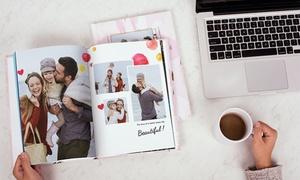 Photobook Canada: Livre photo personnalisé de 40 pages à couverture imprimée chez Photobook Canada (jusqu'à 87 % de rabais)