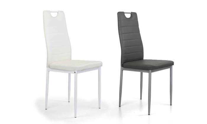 Set di 4 sedie king groupon goods for Rivestimento sedie