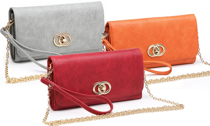 d9fcfda7466e26 MK Belted Collection Lisa Twist 2-in-1 Crossbody Wristlet   Groupon