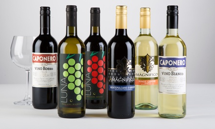 57% Off Six Italian Wines with Shipping Included