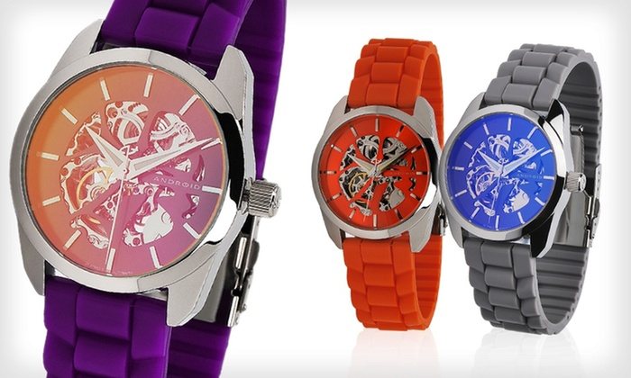 Android Unisex Skeleton Automatic Watch: $52.99 for an Android Unisex Skeleton Watch