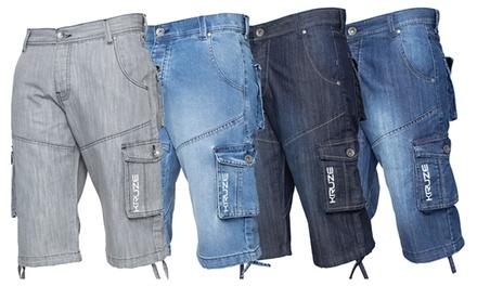 Mens Cargo Combat Denim Shorts