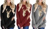 Leo Rosi Women's Gold Glitter Reindeer Top. Plus Sizes Available