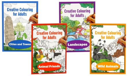 Four Colouring Books for Adults