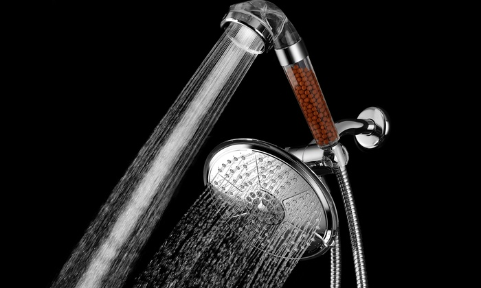 HotelSpa Rainfall Overhead Shower Combo with High-Pressure Hand Shower