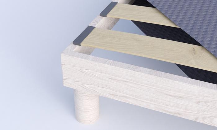 jusqu à 83% Sommier tapissier en kit gris   Groupon 0ca5ca791e31
