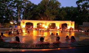 Termas Marinas: Desde $185 por acceso al parque termal + 6 piscinas + visita guiada para niño en Termas Marinas