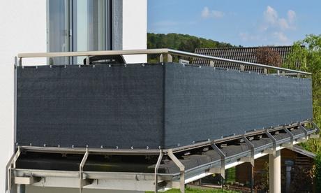 PRIMA GARDEN Balkon-Sicht- und -Windschutz in der Farbe nach Wahl, 500 x 90 cm