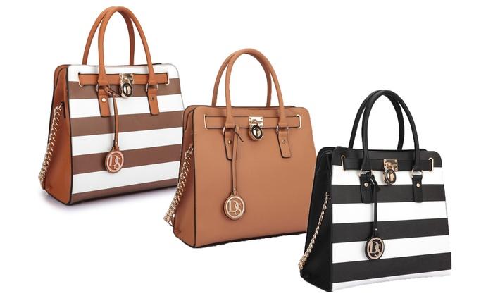 Dasein Large MMK Satchel Handbag | Groupon Goods
